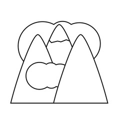 Alps and clouds icon vector