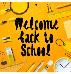 Back to School marketing background vector image vector image