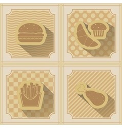 Background with fast food vector image vector image