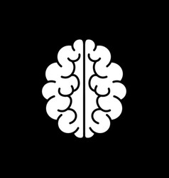 Brain icon mind symbol vector