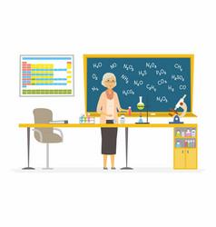 Chemistry teacher - modern cartoon people vector