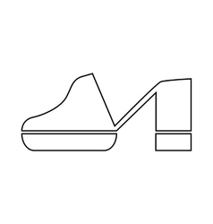 Clogs shoe icon in outline style vector image vector image
