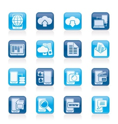 Communication and mobile phone icons vector