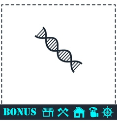 Dna icon flat vector