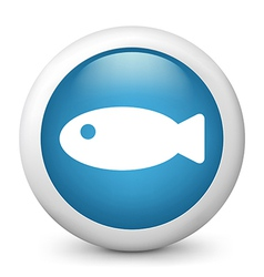 Fish glossy icon vector image vector image