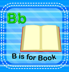 Flashcard letter b is for book vector