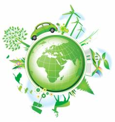 global conservation concept vector image vector image