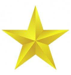 Golden star vector