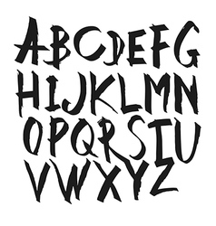 Hand drawn calligraphy alphabet uppercase letters vector