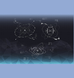 head-up display elements for the spaceship vector image