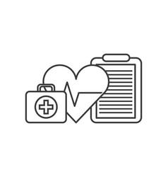 Heart cardio icon vector