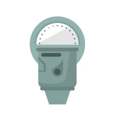 Isolated parking meter design vector