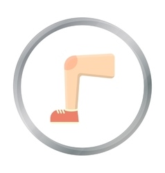 Knee injury icon cartoon Single sick icon from vector image