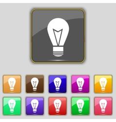 Light lamp sign icon Idea symbol Lightis on Set of vector image