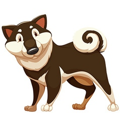 Lovable brown dog vector