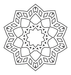 Mandala Hand drawn ethnic decorative elements vector image