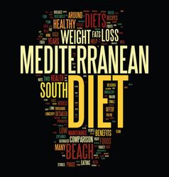 Mediterranean diet and the south beach diet a vector