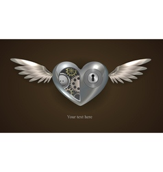 Metal mechanical heart vector