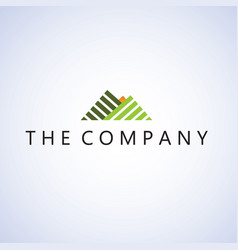 mountain logo ideas design on vector image