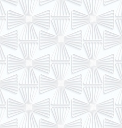 Quilling white paper striped crosses vector