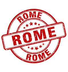 Rome red grunge round vintage rubber stamp vector