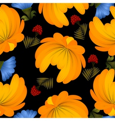 Seamless texture with yellow flowers vector image vector image