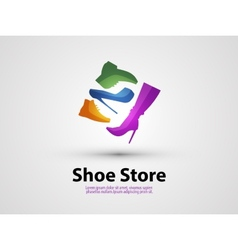 Shoes design template sale or shopping icon vector