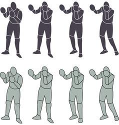 Silhouette Person Boxeo vector image