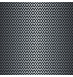 Silver metallic grid background vector image vector image