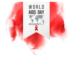 world aids day december 1 emblem vector image vector image