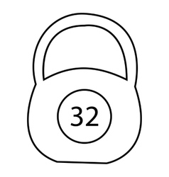 Weight thirty two pounds icon outline style vector