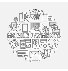 Mobile payments line sign vector