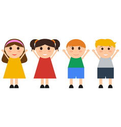 group of happy children jumping fun vector image