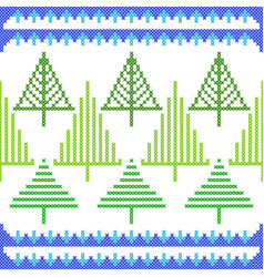 Cross stitch embroidery christmas design for vector