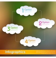 Cloud computing infographics vector