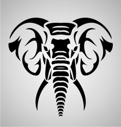 Elephant Tribal vector image