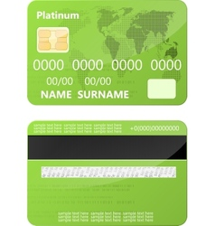 Green credit card vector