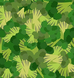 Broccoli pattern seamless background with green vector