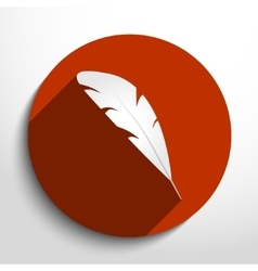 Feather pen web icon vector