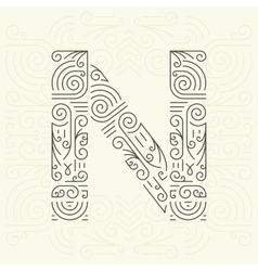 Letter n golden monogram design element vector