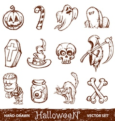 hand drawn halloween vector image