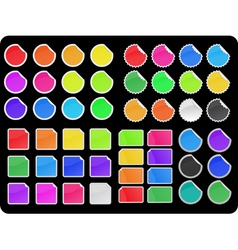 Colorful sticker set vector