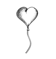 flying heart isolated on the white vector image