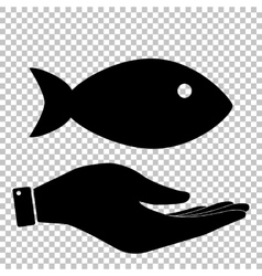 Fish sign flat style icon vector