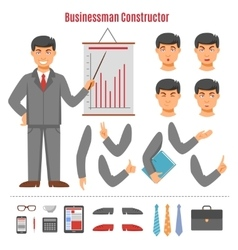 Businessman constructor set vector
