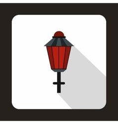 Street lamp icon flat style vector