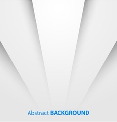 Abstract white paper background with shadow vector image vector image