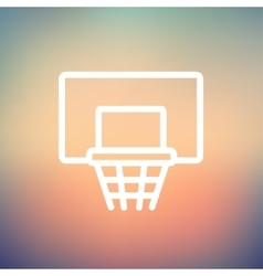 Basketball hoop thin line icon vector image