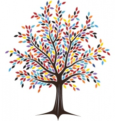 Colored tree vector