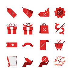 Discount and sale icon set vector